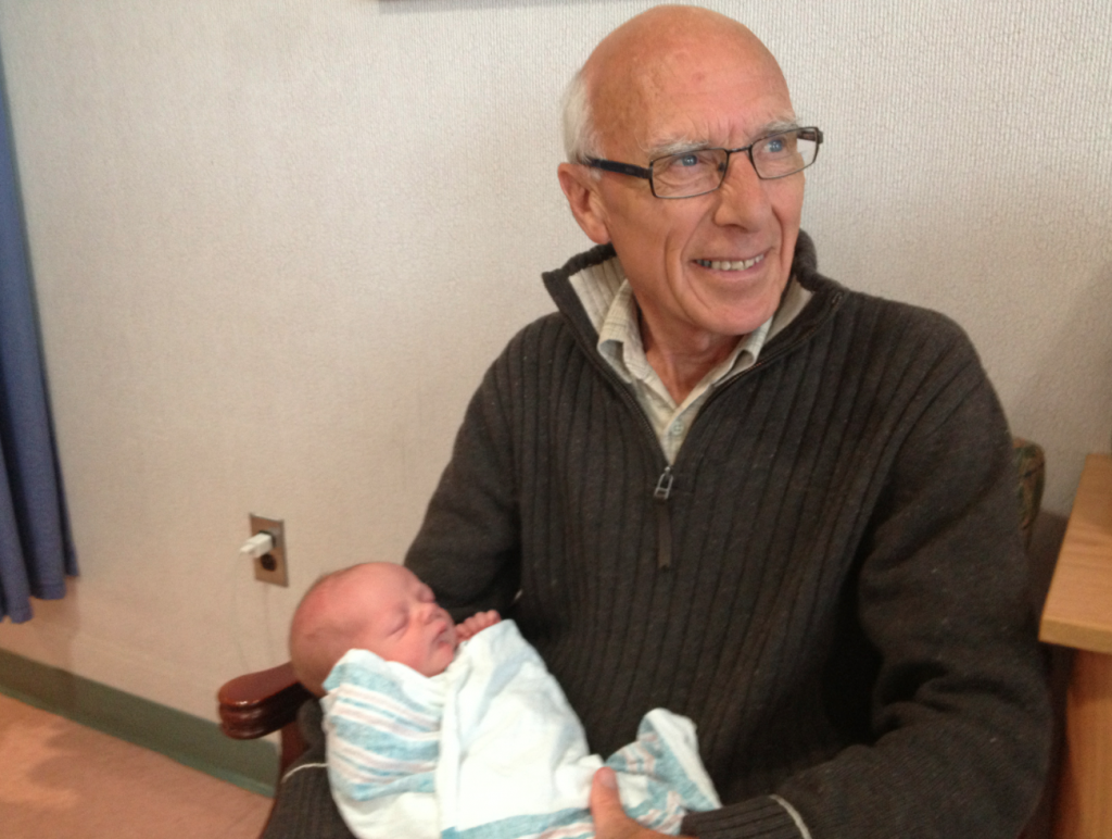 Dad with my son and his grandson, Scot (May 2013)