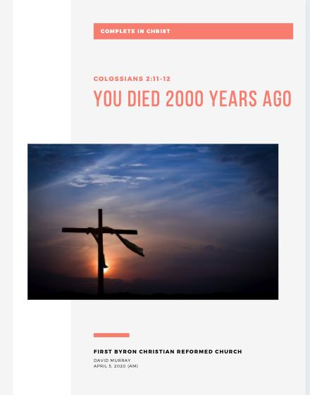 Colossians 2v11-12 Sermon Notes